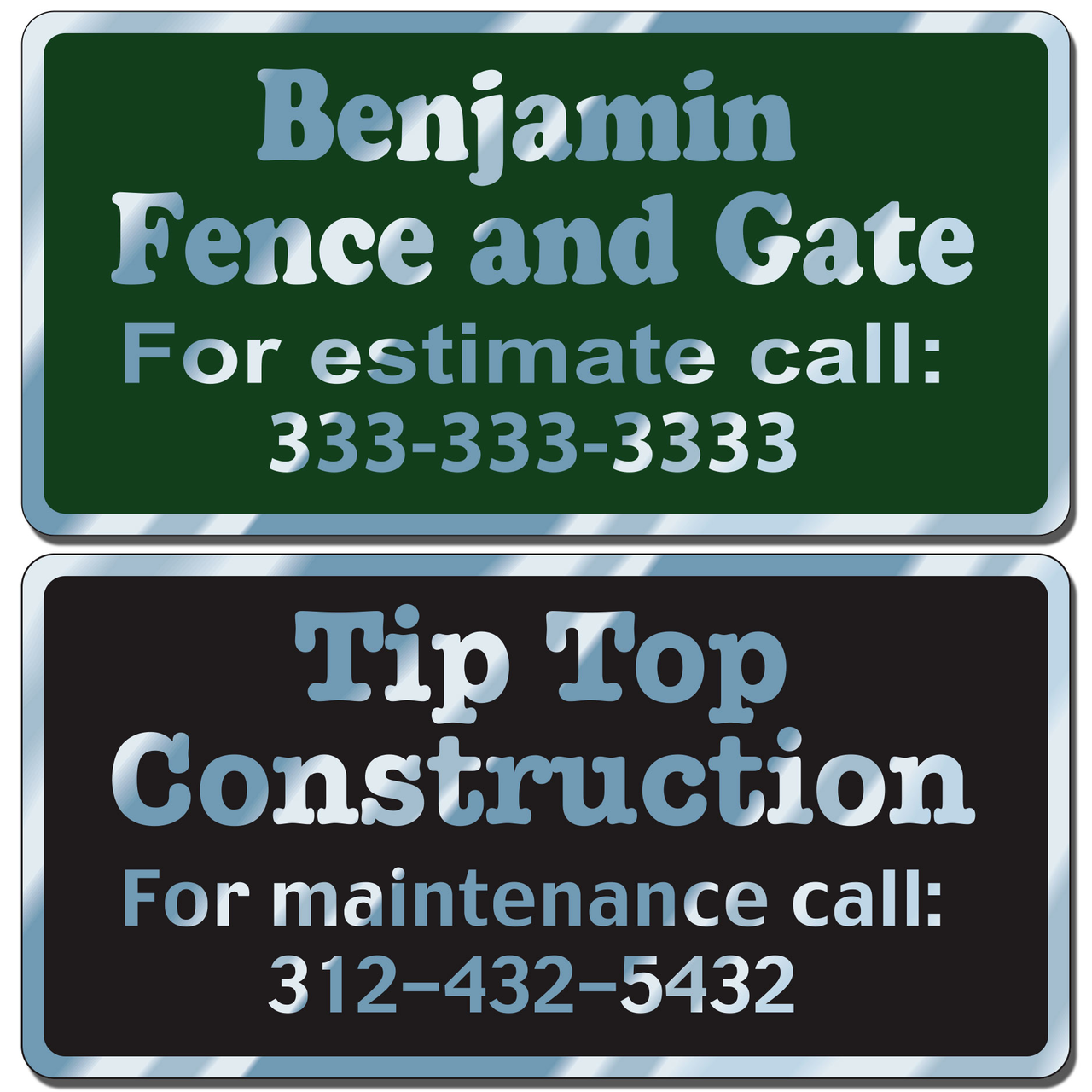 Custom business stickers for indoor or outdoor use allow endless design possibilities and project a professional