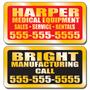 Gold Equipment Service Decals