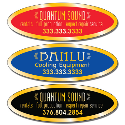 "3 3/4"" X 1 1/4 "" Call For Service Stickers allow endless design possibilities and project a professional image."