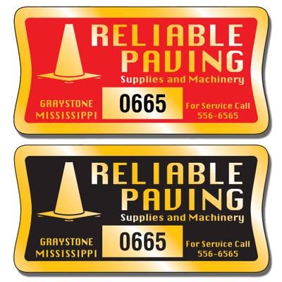 These Numbered Asset Tag Stickers are extremely durable and are available in three finishes: Chrome, Gold, and Brushed Aluminum.
