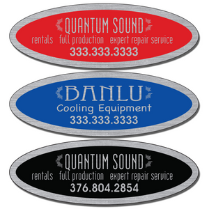 "3 3/4"" X 1 1/4 "" Service Stickers allow endless design possibilities and project a professional image."