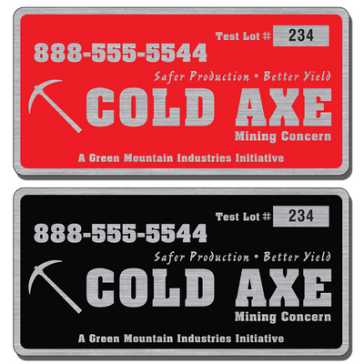 "6"" X 3"" Numbered Asset Tag Labels for indoor or outdoor use allow endless design possibilities and project a professional image."