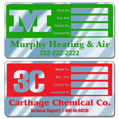 Write-On Aluminum Decals can be embossed using a ballpoint pen or typewriter. These write-on aluminum decals are a great way to display your company information and phone numbers. Worker safety depends on proper inspections that can be easily documented with these write-on aluminum decals.