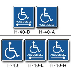 Handicap Symbol Decals