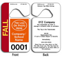 These durable Hanging Parking Permit Tags are UV laminated front and back to give you the strongest parking permit available. Order today and get Free Numbering and Free Back Printing