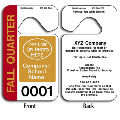4-Color Process Hanging Parking Permit Templates allow endless design possibilities and project a professional image.