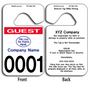 Full Color Custom Guest Parking Permits allow endless design possibilities and project a professional image.
