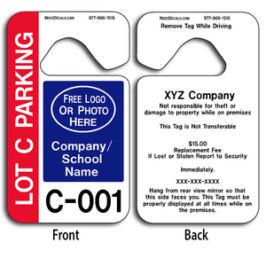 These durable Parent Pickup Hang Tags are UV laminated front and back to give you the strongest parking permit available. Order today and get Free Numbering and Free Back Printing.