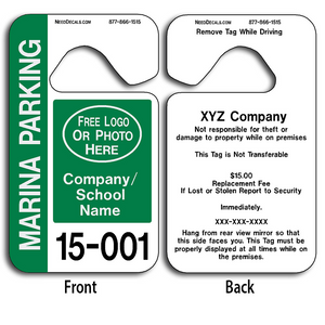 4-Color Process Parking Hang Tags allow endless design possibilities and project a professional image.