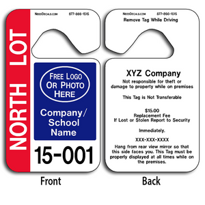 4-Color Process Parking Hang Tags Wholesale allow endless design possibilities and project a professional image.