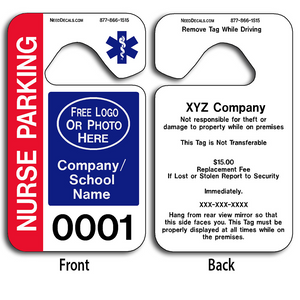 These durable Parking Hang Tags Templates are UV laminated front and back to give you the strongest parking permit available. Order today and get Free Numbering and Free Back Printing.