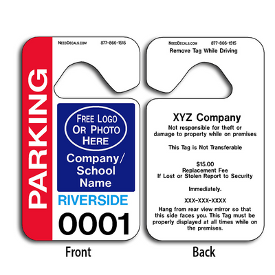 4-Color Process Parking Permit Hang Tags allow endless design possibilities and project a professional image. These durable Parking Permit Hang Tags are UV laminated front and back to give you the strongest parking permit available. Order today and get Free Numbering and Free Back Printing.