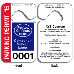 4-Color Process Parking Permit Hangers allow endless design possibilities and project a professional image.