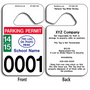 Patriotic Car Hang Tags are UV laminated front and back to give you the strongest parking permit available. Order today and get Free Numbering and Free Back Printing.