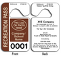 These durable Rearview Mirror Tags are UV laminated front and back to give you the strongest parking permit available. Order today and get Free Numbering and Free Back Printing.