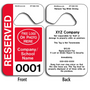 4-Color Process Custom Reserved Parking Permit Hang Tags allow endless design possibilities and project a professional image.