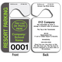 Sequentially Numbered Hang Tags are printed on heavy duty .035 inch material to give you the strongest parking permit available.