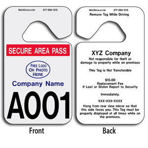 Hang Tag Printer Permits allow endless design possibilities and project a professional image. These durable Hang Tag Printer Permits are UV laminated front and back to give you the strongest parking permit available. Order today and get Free Numbering and Free Back Printing.