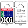 These durable Customizable Stock Parking Hang Tags are UV laminated front and back to give you the strongest parking permit available. Order today and get Free Numbering and Free Back Printing. These Hang Tags measure are 2 3/4 x 4 3/4 inches.