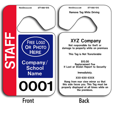 Customizable Stock Parking Hang Tags allow endless design possibilities and project a professional image.