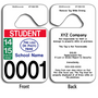 School Pick Up Tags allow endless design possibilities and project a professional image. These durable School Pick Up Tags are UV laminated front and back to give you the strongest parking permit available. Order today and get Free Numbering and Free Back Printing.