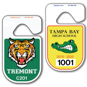 Rounded Custom Car Parking Hang Tag Permits allow endless design possibilities and project a professional image. Free Numbering, Free Logo and Free Back Printing.