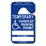 Use these Handicap Hang Tag  Parking Permits for students, employees, etc who have a temporary illness or injury. For use in school or employee parking areas only.  These permits are not intended to replace permanent Handicap Permits issued by State or Federal agencies and should not be used in public parking areas.