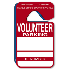 Volunteer Parking Hang Tags