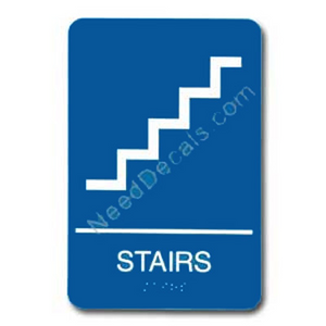 09011 Stairs Sign Braille ADA - Inventory Reduction Sale