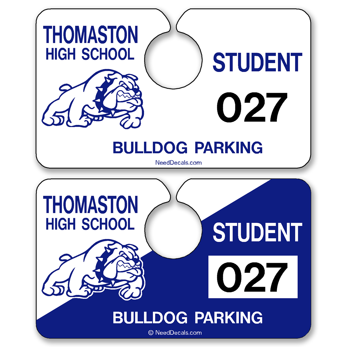 Custom Automotive Rear View Mirror Hang Tags