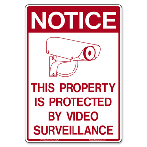 G400 Property Protected by Video Surveillance Decals