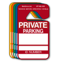 Private Parking Hang Tag Permits are in stock and ready to ship. These Private Parking Hang Tag Permits project a professional image and help solve your parking problems. Available in Stock Ink Colors shown. Private Parking Hang Tag Permits are printed on heavy duty .035 inch material to give you the strongest parking permit available.
