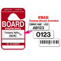 Board Member parking permits come with free custom decals to personalize your hang tags.
