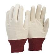 Cotton Drill Glove Red Cuff Ladies