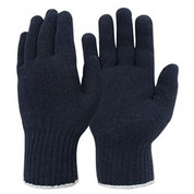 Knitted Poly Cotton Ladies Glove Navy