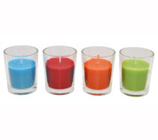 Citronella Candle Glass Votive 4 pk various colours WaxWorks
