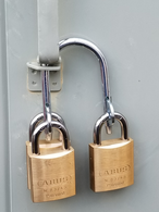 Multiple Padlock Locking Device - Shared Access for Utility Companies - Dual Hasp GM P4004  Gate lock GM P4004