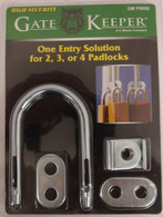 Multiple Padlock Locking Device - Shared Access for Utility Companies - Dual Hasp GM P6006  Gate lock GM P6006
