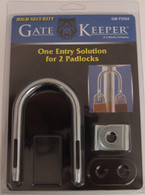 Multiple Padlock Locking Device - Shared Access for Utility Companies - Dual Hasp GM P2002