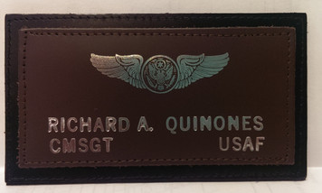 Single Device Two-Layer USAF Leather Nametag