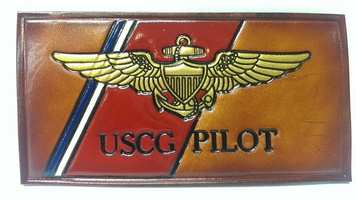 Coast Guard  Name tag - embossed