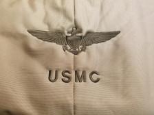 Marine Corp Brown on tan helmet bag