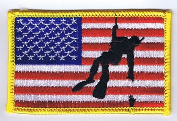 Rescue Swimmer American Flag