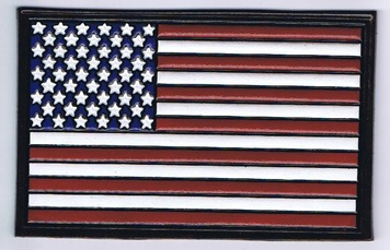 Embossed Leather American Flag (color)