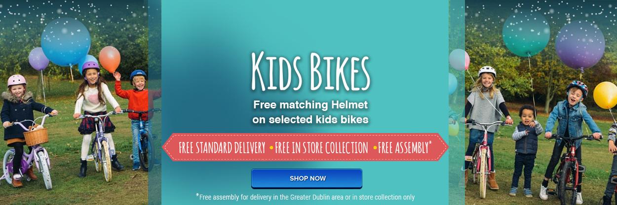 Free helmet on selected kids bikes