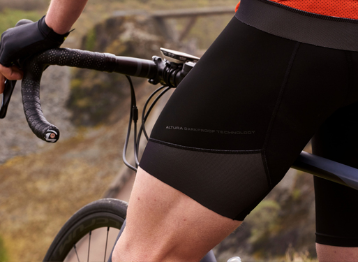 Cyclist wearing bibshorts