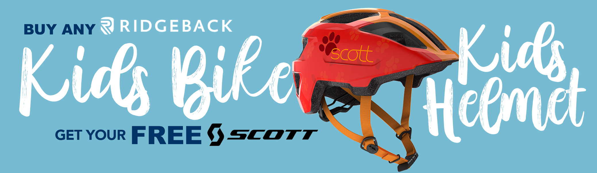 Ridgeback Kids Bikes Free Helmet Offer