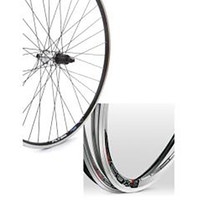 Tru-Build 700C Rear Road Wheel, Mach1 Cfx Rim, Screw On Fitting, Black, Qr (5510)