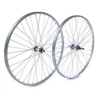 Our most economical rear wheel 26x1.75 silver alloy rim 36 steel hub (5475)