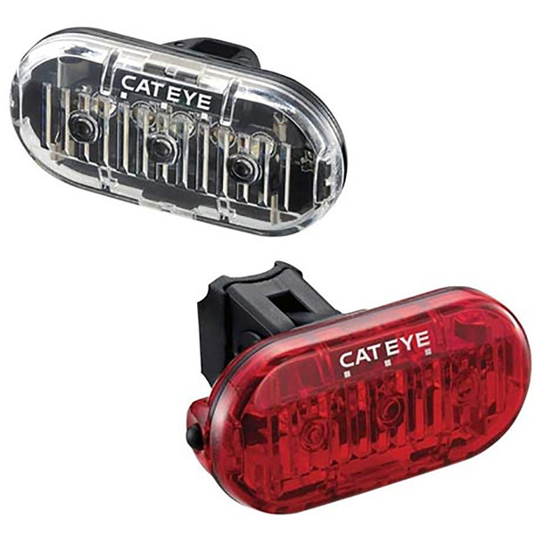 Cateye  Omni 3 Front & Rear Bicycle Light Set (11778)